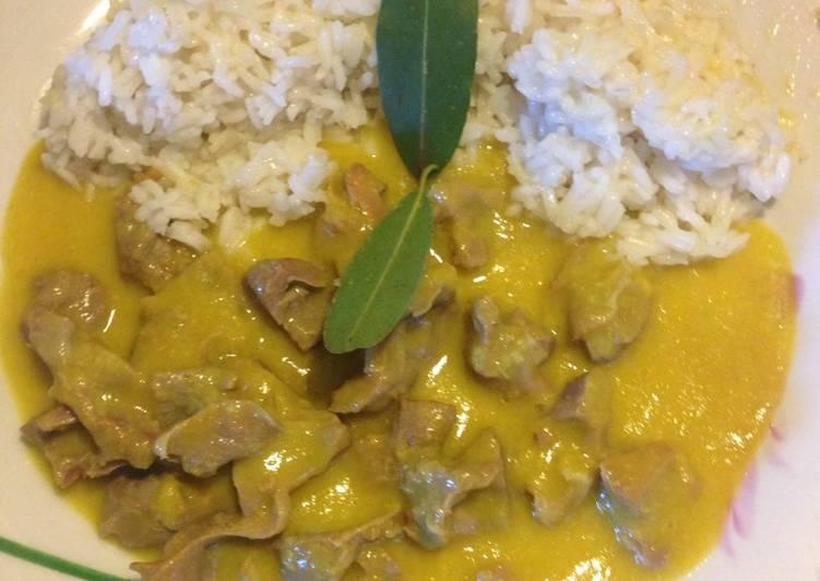 Receta Mollejas De Pollo Con Curry Y Arroz